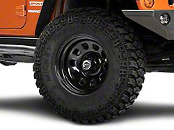 Rugged Ridge Steel Gloss Black Wheel; 17x9 (07-18 Jeep Wrangler JK)
