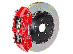Brembo GT Series 6-Piston Front Big Brake Kit with 15-Inch 2-Piece Type 1 Slotted Rotors; Red Calipers (07-18 Jeep Wrangler JK)