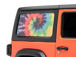 SEC10 Quarter Window Decal; Tie Dye (18-21 Jeep Wrangler JL 2-Door)