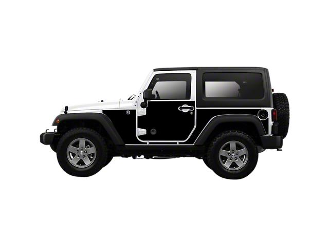 Mek Magnet Magnetic Body Armor; Matte Black (07-18 Jeep Wrangler JK 2-Door)