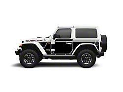 Mek Magnet Magnetic Body Armor; Matte Black (18-21 Jeep Wrangler JL 2-Door)