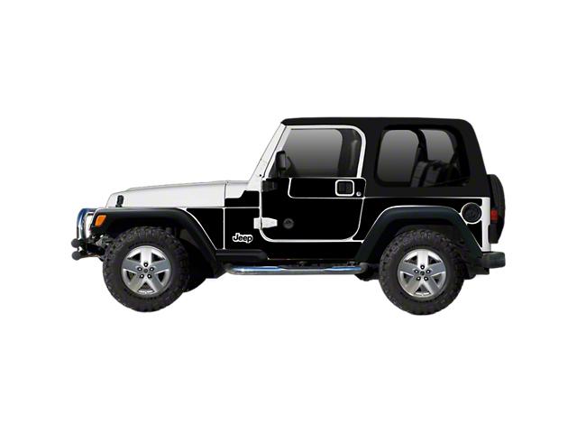 Mek Magnet Magnetic Body Armor; Matte Black (97-06 Jeep Wrangler TJ, Excluding Unlimited)