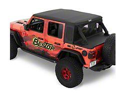 Bestop Trektop Half Top Accessory Kit; Black Diamond (18-21 Jeep Wrangler JL 4-Door)