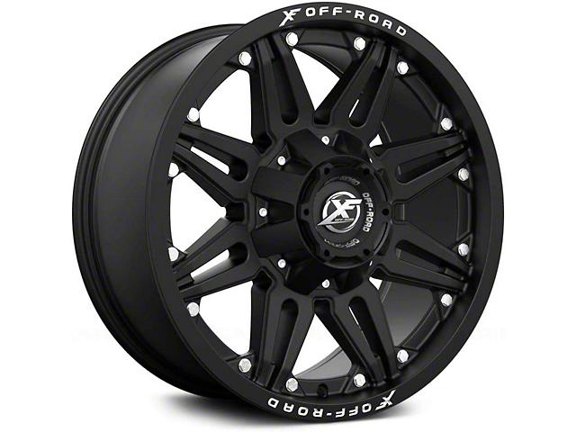 XF Offroad XF-204 Gloss Black Milled Wheel; 24x14 (76-86 Jeep CJ5 & CJ7)