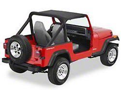 Bestop Targa-Style Strapless Bikini Top; Black (87-91 Jeep Wrangler YJ)