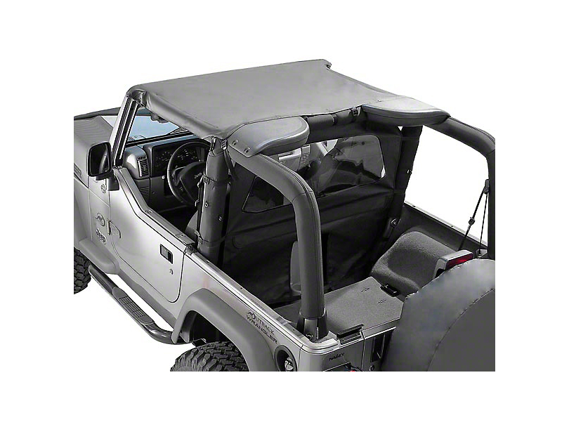 Rugged Ridge Summer Brief Top; Black Denim (92-95 Jeep Wrangler YJ)
