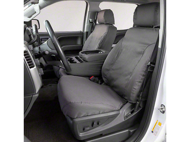 Covercraft SeatSaver Front Seat Cover; Gray; With High Back Bucket Seats (87-91 Jeep Wrangler YJ)