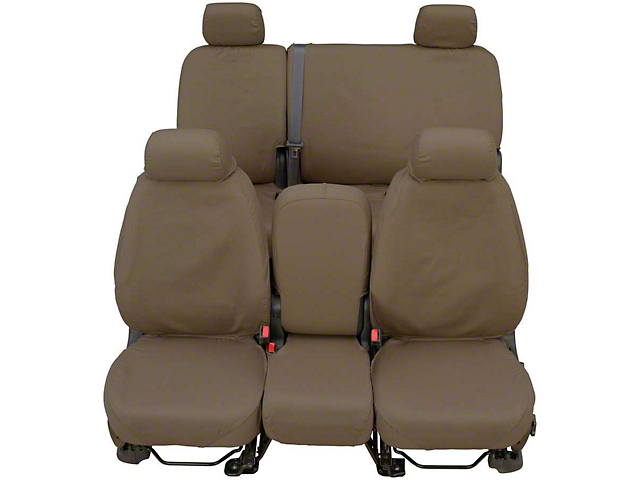 Covercraft SeatSaver Front Seat Cover; Waterproof Taupe; With High Back Bucket Seats (87-91 Jeep Wrangler YJ)