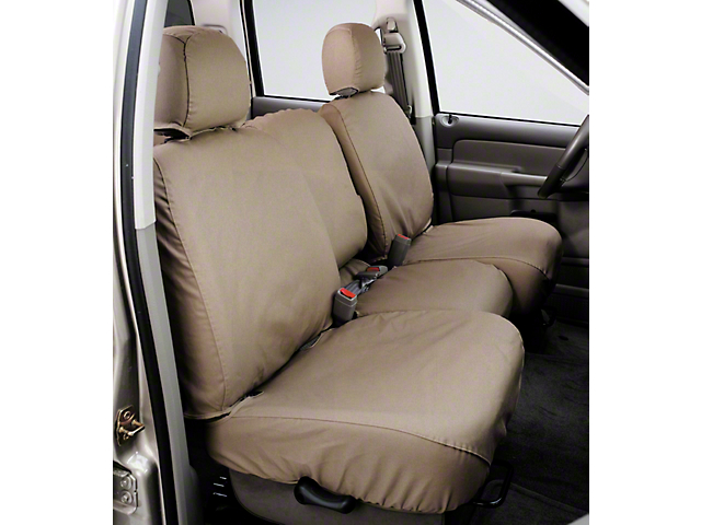 Covercraft SeatSaver Front Seat Cover; Taupe; With High Back Bucket Seats (92-95 Jeep Wrangler YJ)