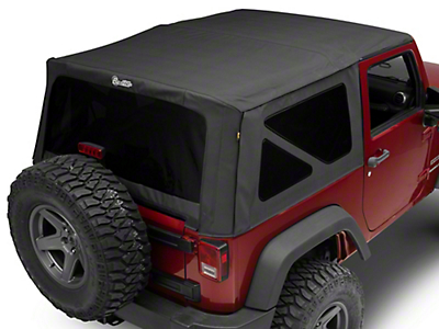 Bestop Supertop NX Soft Top - Black Diamond (07-18 Jeep Wrangler JK 2 Door)