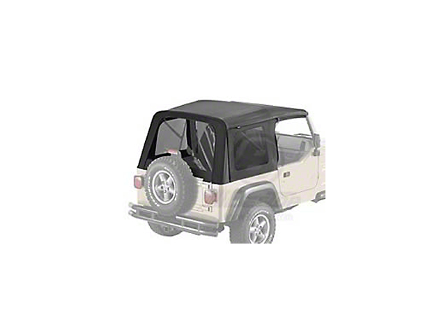 Bestop Supertop Classic Replacement Skins with Tinted Windows; Black Denim (97-02 Jeep Wrangler TJ w/ Factory Soft Top)