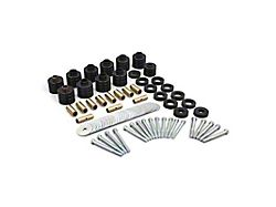 Daystar Suspension Body Lift Kit; Black; 1-Inch Lift; Replaces Factory Body Mount Bushings (80-86 Jeep CJ5 and CJ7)