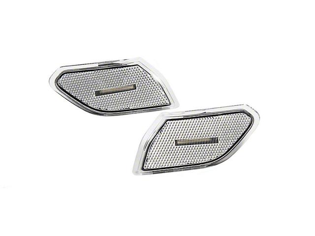Diode Dynamics LED Front Side Marker Lights; Clear (18-21 Jeep Wrangler JL)