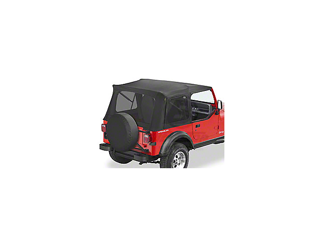 Bestop Supertop Classic Replacement Soft Top with Tinted Windows; Black Denim (87-95 Jeep Wrangler YJ)