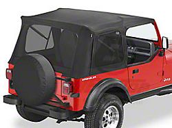 Bestop Supertop Classic Replacement Soft Top w/ Tinted Windows - Black Denim (87-95 Jeep Wrangler YJ)