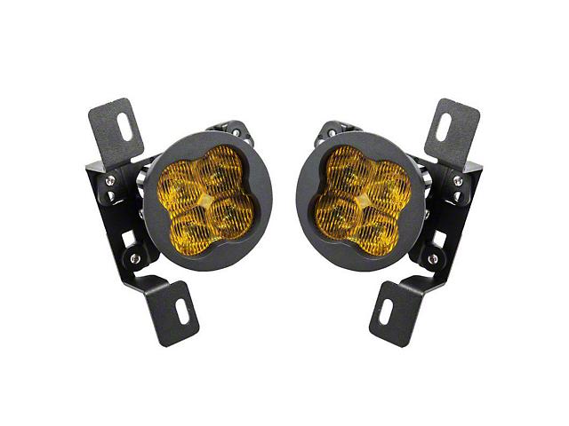 Diode Dynamics Worklight SS3 Sport Type MR LED Fog Light Kit; Yellow SAE Fog (07-21 Jeep Wrangler JK & JL)