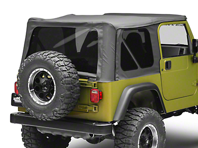 Bestop Supertop Classic Replacement Soft Top w/ Tinted Windows - Black Denim (97-06 Wrangler TJ w/Full Doors)