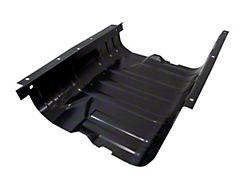 Fuel Tank Skid Plate with Strap; Black Powder Coated Stainless Steel (76-90 Jeep CJ5, CJ7, Wrangler YJ with 15 Gallon Tank)
