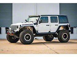 Road Armor Stealth Wide Front Fender Flares with Switchback LED DRL; Textured Black (20-22 Jeep Gladiator JT)