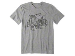Life is Good Men's Off-Road Fun Crusher T-Shirt