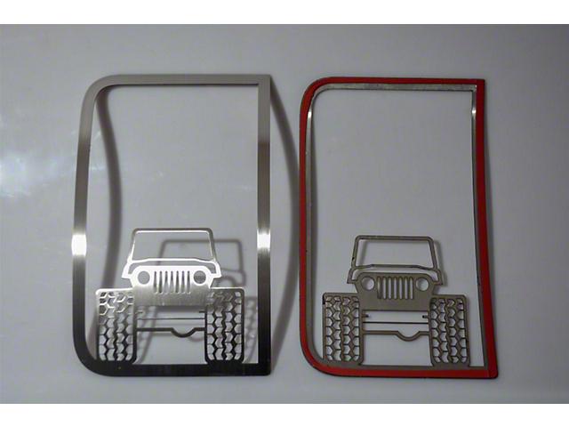 Speaker Grilles; Off Road Jeep Style; Polished; 2-Piece (07-18 Jeep Wrangler JK)