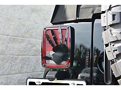 Tail Light Cover; Black Powder Coated; Wave Hand Style; 2-Piece (07-18 Jeep Wrangler JK)