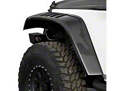 Flat Front Fender Flares; Unpainted (07-18 Jeep Wrangler JK)