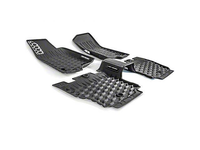 Air Design Soft Touch Front and Rear Floor Liners; Black (18-21 Jeep Wrangler JL 4-Door, Excluding 4xe)