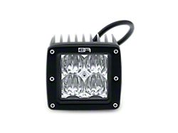 Body Armor 4x4 3-Inch LED Cube Lights; Flood Beam (Universal; Some Adaptation May Be Required)