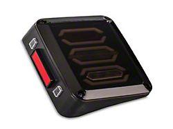 Quake LED Blackout II LED Tail Lights; Black Housing; Clear Lens (07-18 Jeep Wrangler JK)