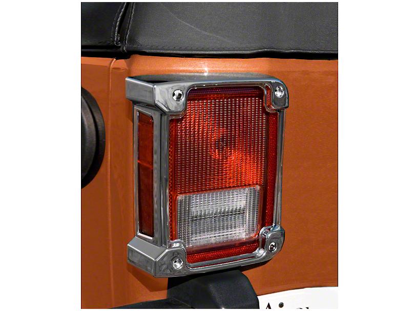 Rugged Ridge Tail Light Covers - Chrome (07-18 Wrangler JK)