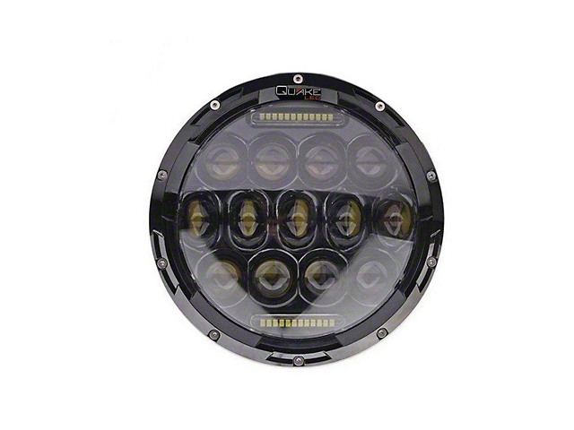 Quake LED Tempest 7-Inch RGB Headlights; Black Housing; Clear Lens (76-86 Jeep CJ5 & CJ7; 97-18 Jeep Wrangler TJ & JK)