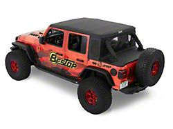 Bestop Trektop Halftop; Black Twill (18-21 Jeep Wrangler JL 4-Door)
