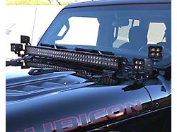Quake LED A-Pillar Dual Pods and 42-Inch Cowl Light Bar Mounting Brackets (18-21 Jeep Wrangler JL, Excluding 4xe)
