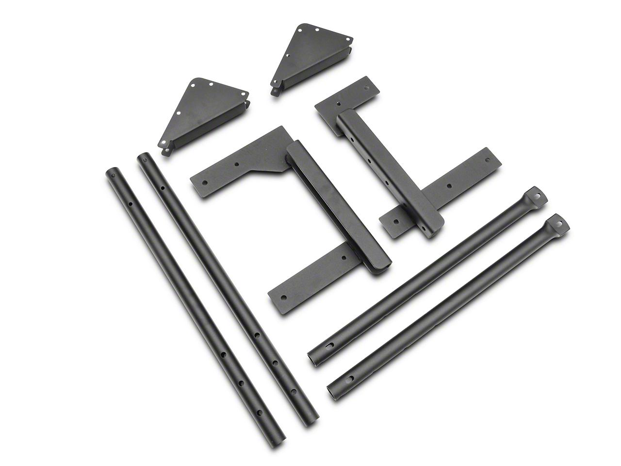 Bestop Tailgate Rack Bracket for Universal Rack System (87-06 Wrangler YJ & TJ)