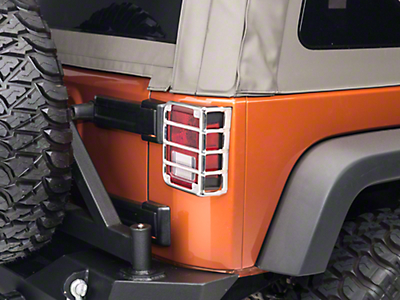 Rugged Ridge Taillight Euro Guards Polished Stainless Steel - Pair (07-18 Wrangler JK; 2018 Wrangler JL)