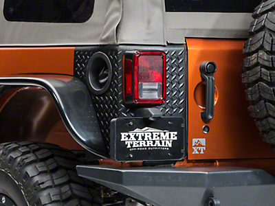 Rugged Ridge Tall Body Armor Corner Guards - Black (07-18 Wrangler JK 4 Door)