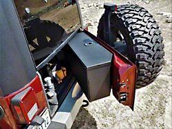 Tailgate Storage Box; Matte Black (07-18 Jeep Wrangler JK w/o Subwoofer)