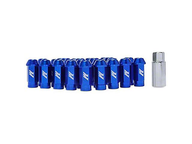 Mishimoto Blue Locking Lug Nut Kit; 1/2-Inch x 20; Set of 20 (79-14 All)