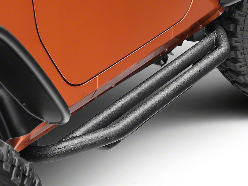 Rugged Ridge Nerf Bars - Textured Black (07-18 Jeep Wrangler JK 2 Door)