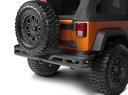 Rugged Ridge 3-Inch Double Tube Rear Bumper - Black (07-18 Jeep Wrangler JK)