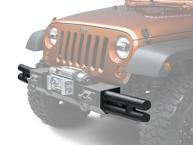 Rugged Ridge Tube Ends for XHD Front Bumper - Textured Black (07-18 Wrangler JK; 2018 Wrangler JL)