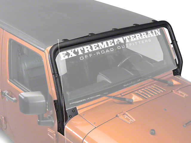 Rugged Ridge Windshield Mounted Light Bar - Textured Black (07-18 Jeep Wrangler JK)