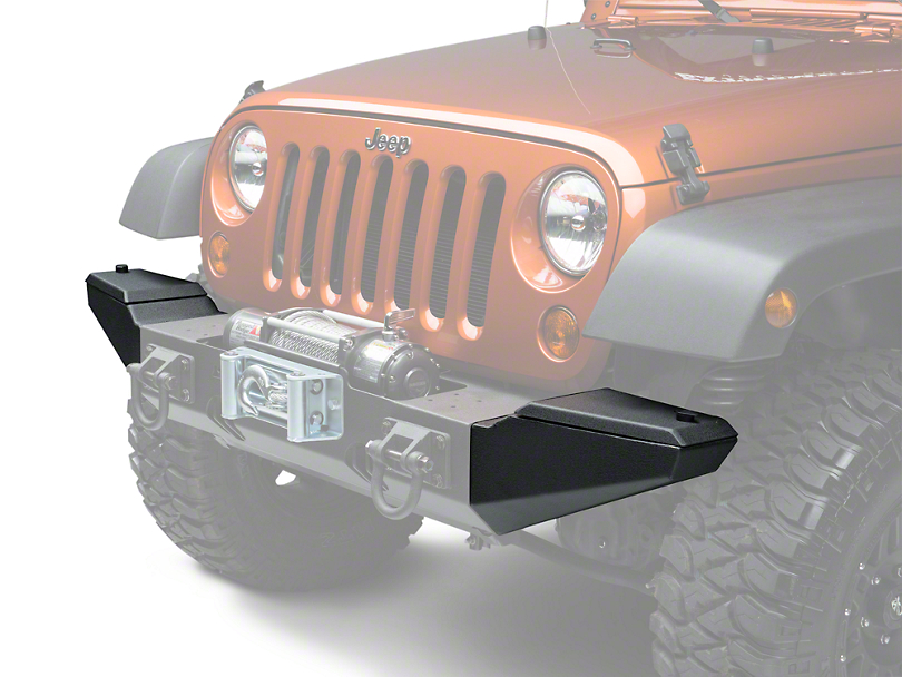 Rugged Ridge Storage Ends XHD Front Bumper - Textured Black (07-18 Jeep Wrangler JK; 2018 Jeep Wrangler JL)