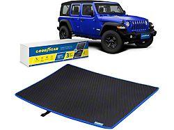 Goodyear Custom Fit Cargo Liner; Black/Blue (18-21 Jeep Wrangler JL 4-Door, Excluding 4xe)