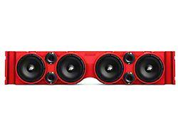 American SoundBar Empty Speaker Enclosure; Red (07-18 Jeep Wrangler JK)