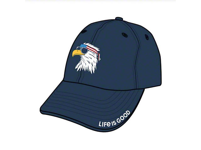 Life is Good American Eagle Chill Cap; Darkest Blue