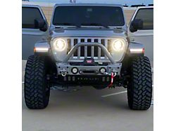 Hauk Off-Road Predator Series Front Bumper; Gloss Billet Silver (18-21 Jeep Wrangler JL)