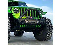 Hauk Off-Road Predator Series Front Bumper; Gloss Black (18-21 Jeep Wrangler JL)