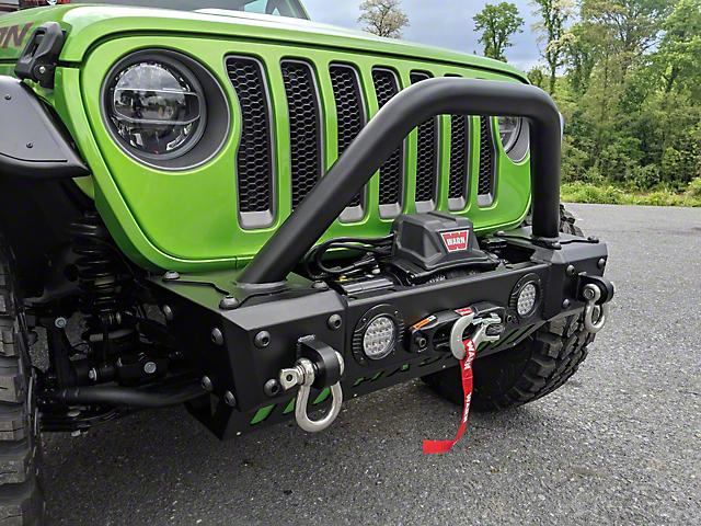 Hauk Off-Road Predator Series Front Bumper; Textured Black (18-21 Jeep Wrangler JL)